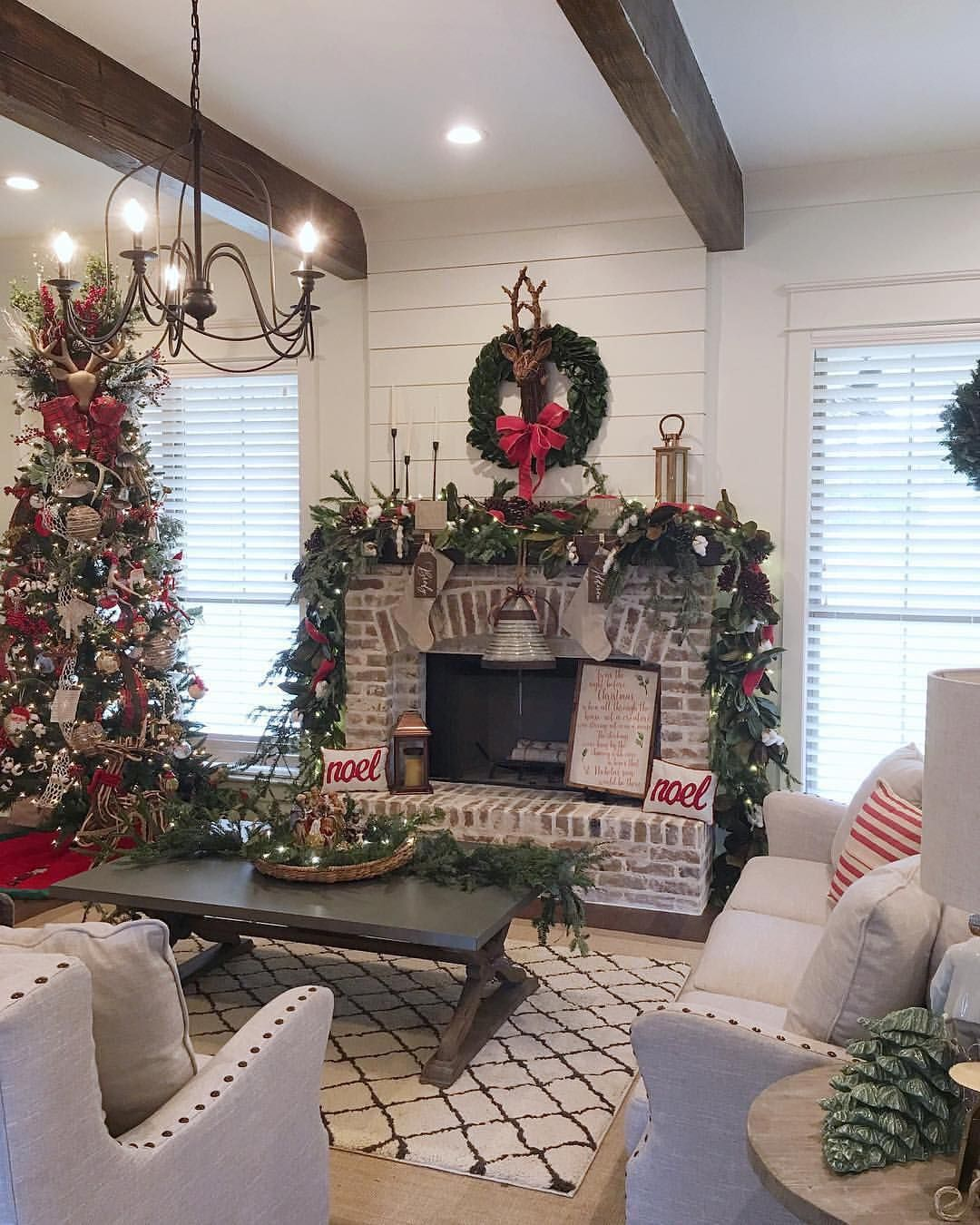 Mantel Goals! @the_refinedfarmhouse's Decked Out Fireplace