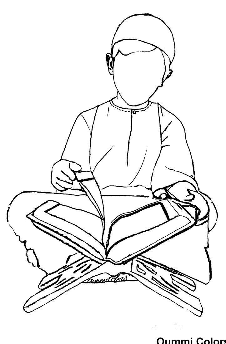 Coloriagelecture Du Coran Par Un Petit Garçon