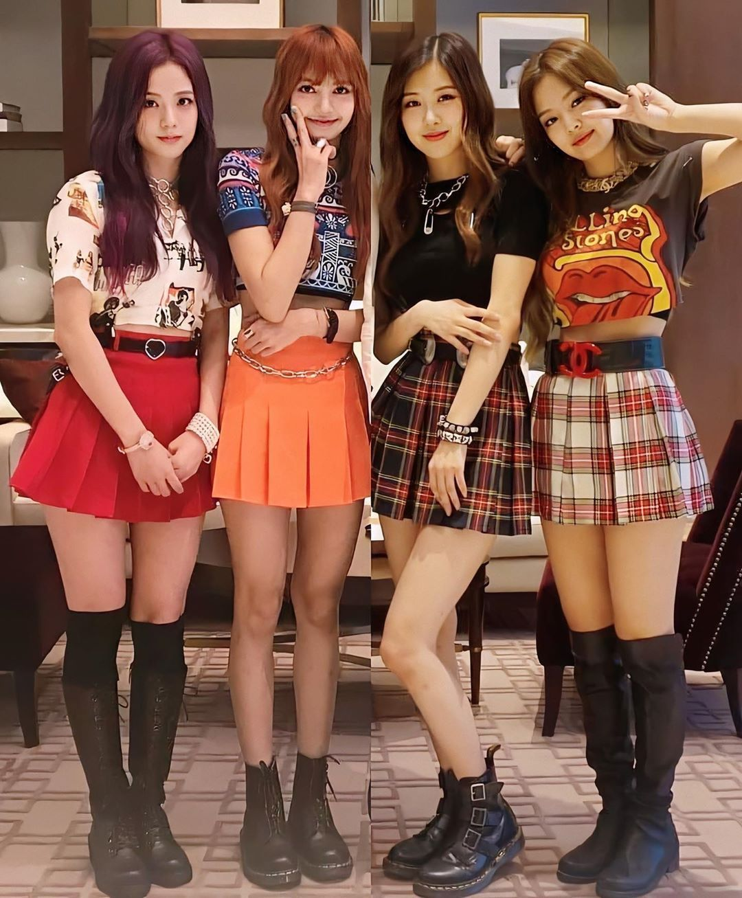 3 346 Curtidas 105 Comentarios Black Pink بلاك بينك Blackpinkco1 No Instagram What Was The First Blackpink Song You Cheer Skirts Fashion Black Pink