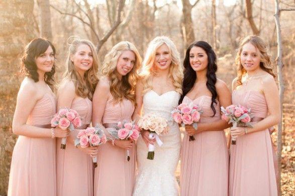 3aa2fc1a4a Madrinhas em tons de rosa - Inspirações Pinterest ! 11