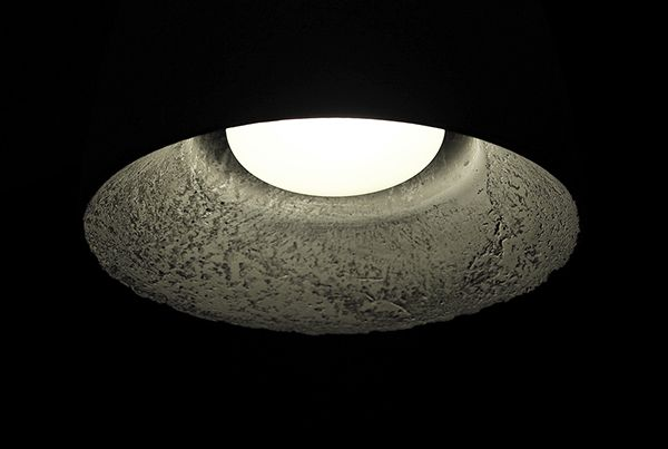 FLOS concrete pendant lamp inspired by Ocun bud. on Behance
