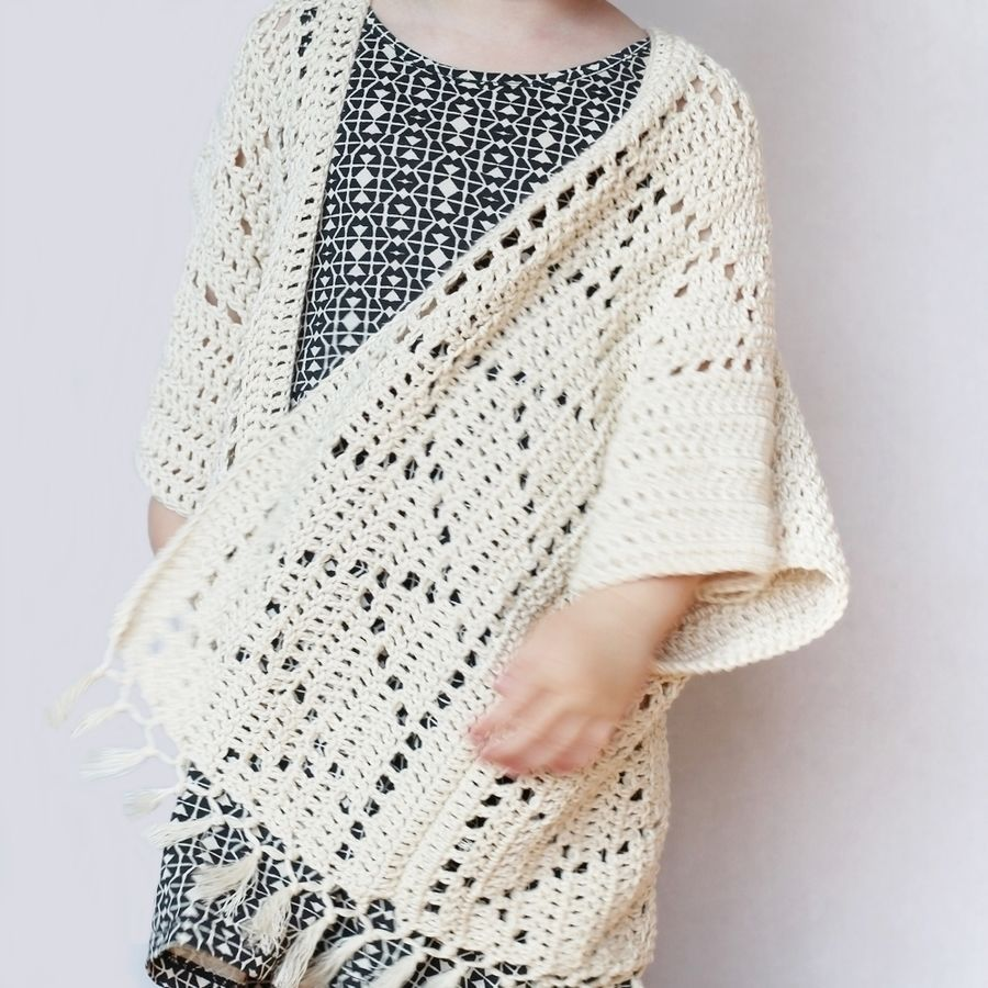 Crochet Pattern - Kenzie Kimono Cardigan for Toddlers, Kids ...