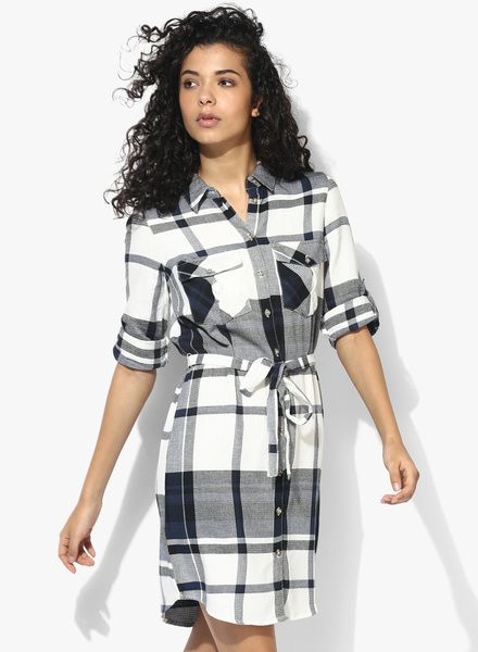 Buy Dorothy Perkins Oversized Checked Shirt Dress for Women Online ...