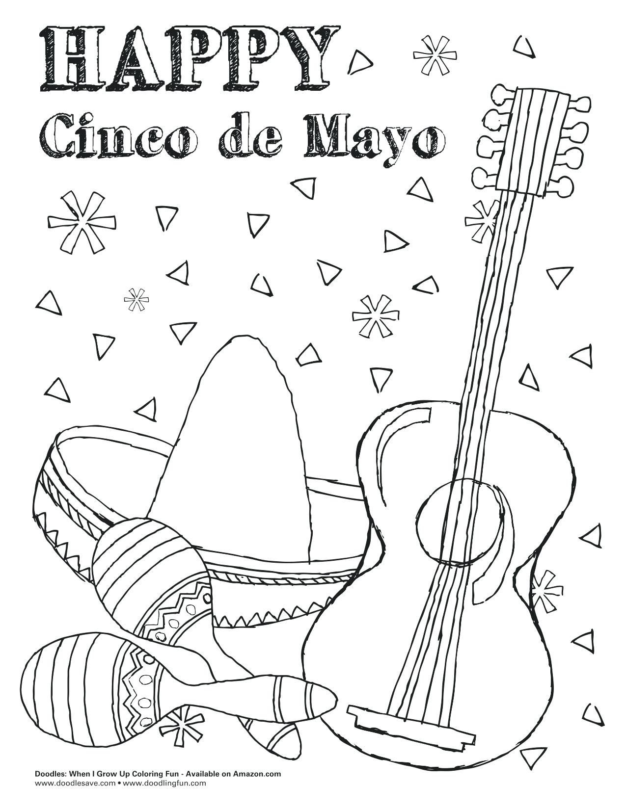 Cinco De Mayo Coloring Pages Coloring Pages Cinco Mayo Coloring Sheets Printable Tulippaper Pages Large Images Mexican For Adults