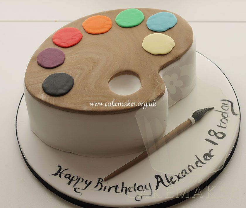 Fantastic Birthday Cakes For Adults Artists Palette Cake Cakepins Com Funny Birthday Cards Online Alyptdamsfinfo