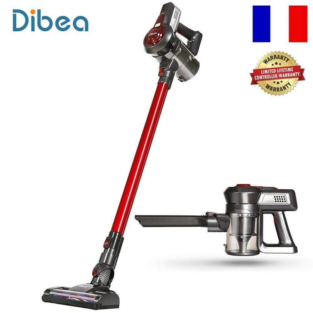 Dibea T6 Aspirateur Balai Sans Fil Sans Sac Nettoyeur Voiture Multifonction Hot Aspirateur Balai Sans Fil Nettoyeur Menage