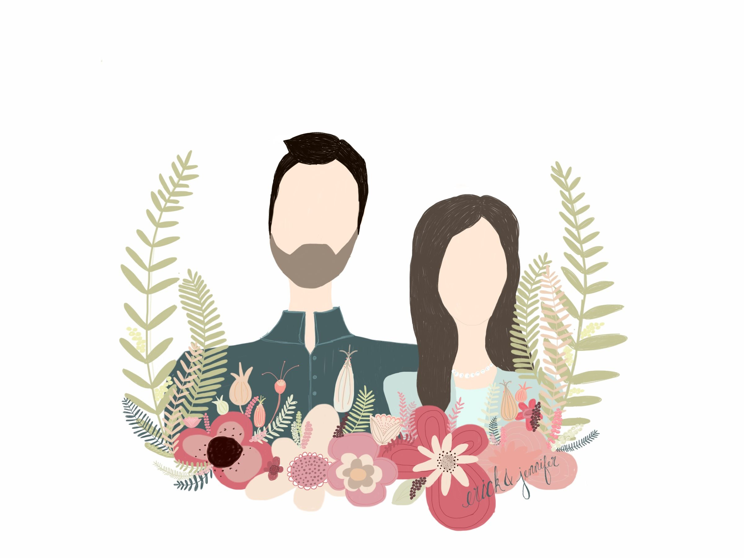 Couple illustration by Maddox and Klaus