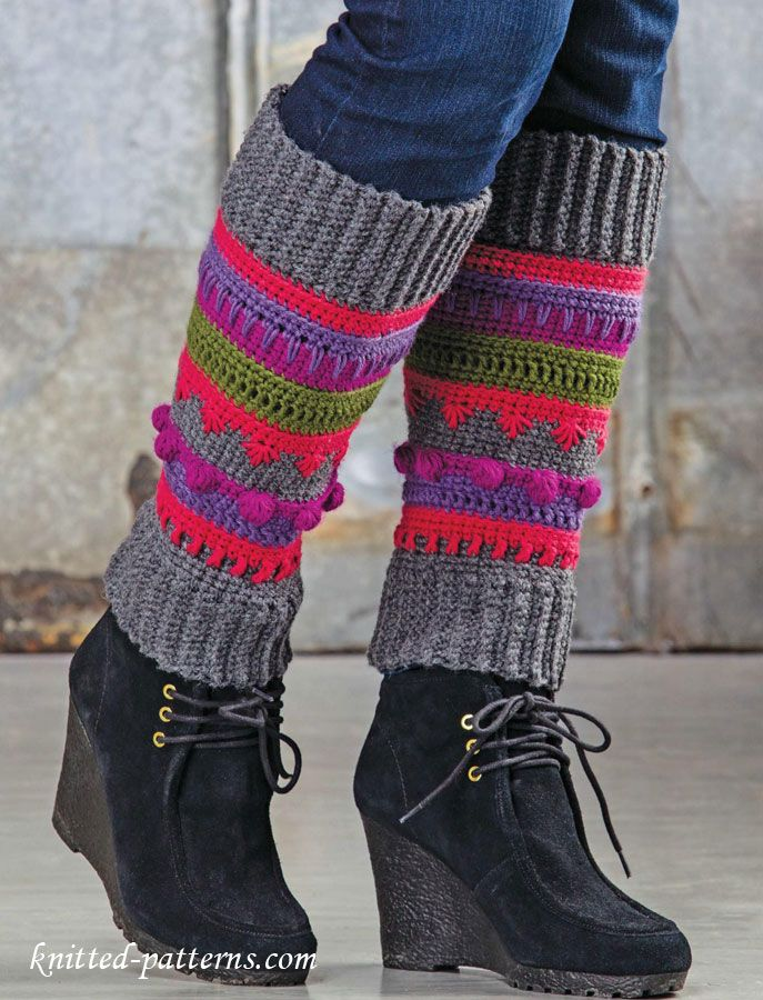 Girl leg warmers crochet pattern free | cuffs | Pinterest | Tejido ...