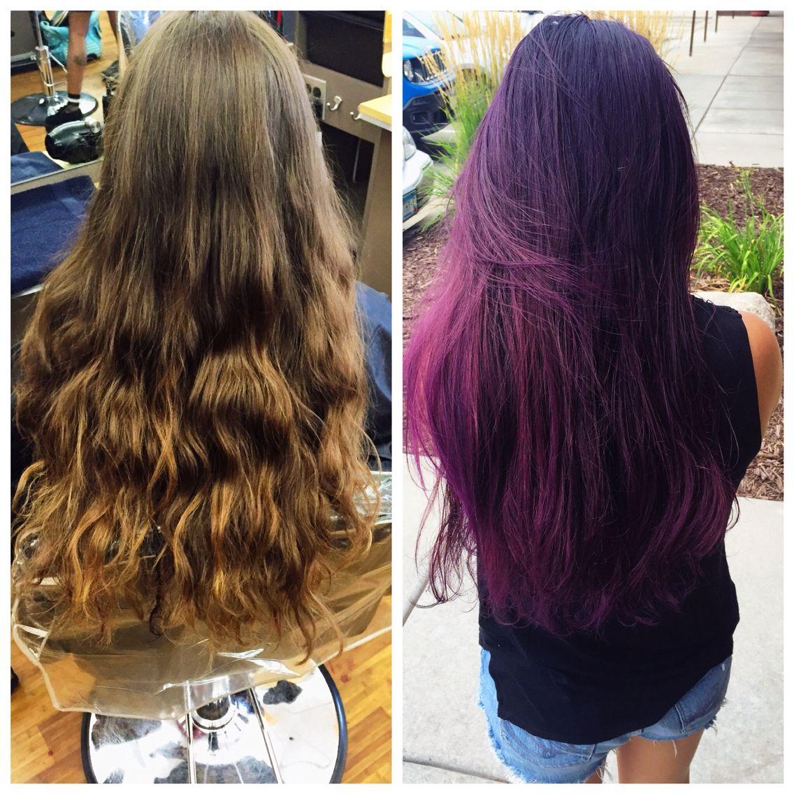 Gorgeous purple hair!!