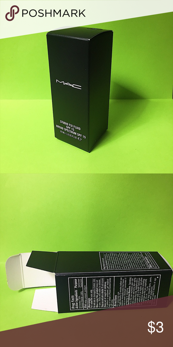MAC Cosmetics Studi Fix Fluid Foundation Box Box only!! Does not include makeup. MAC Cosmetics Makeup Foundation