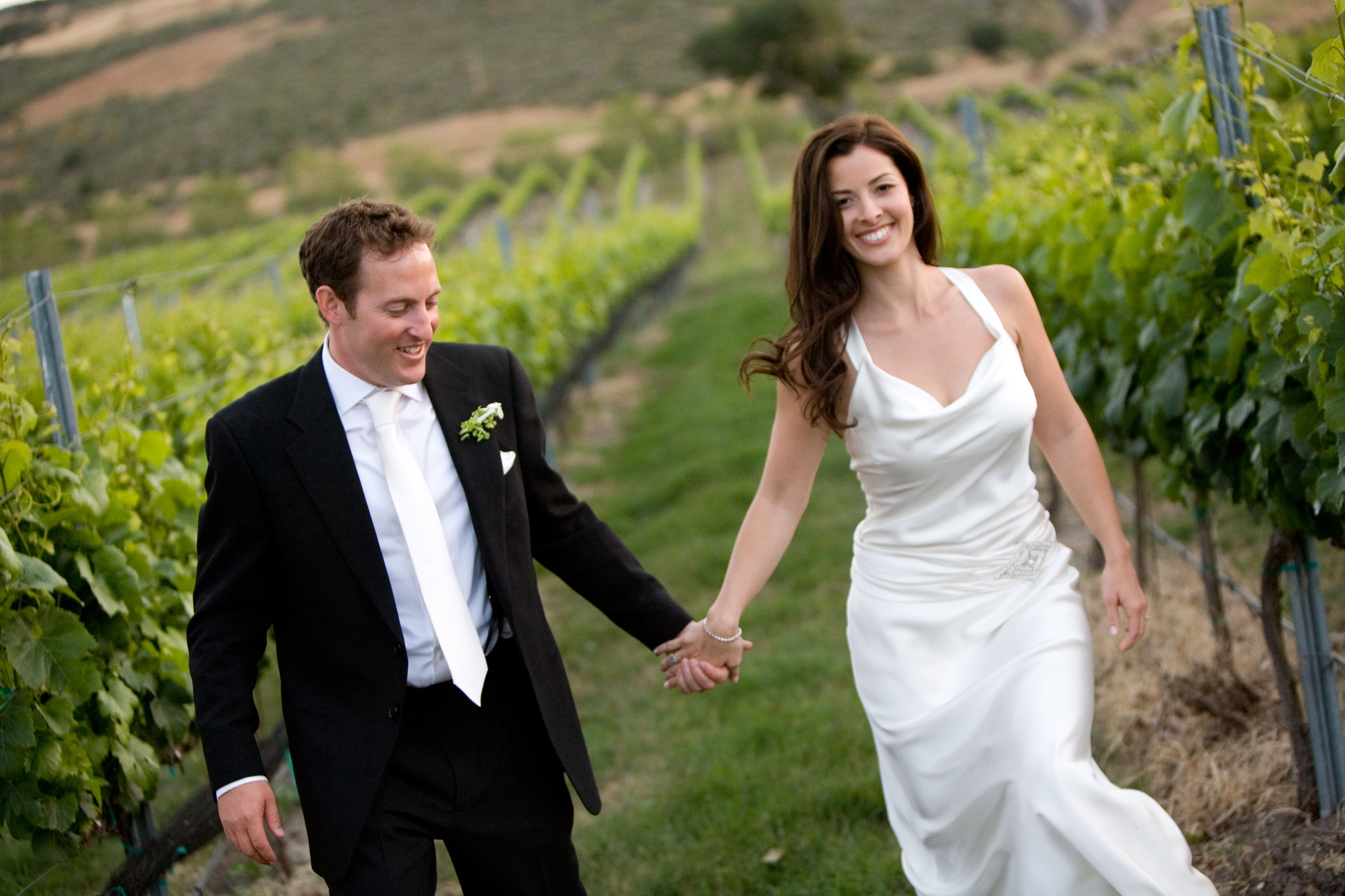 Walking in the vineyards of Foley Winery