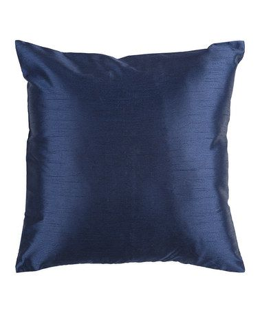 Take a look at this Navy Gloss Throw Pillow by Surya on #zulily today!