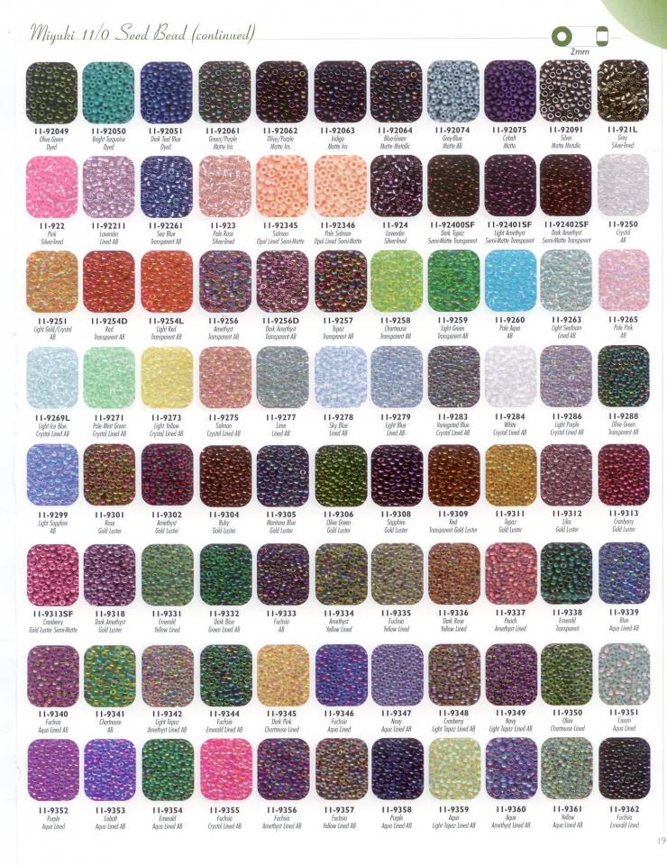 110 size colour chart iii beading pinterest miyuki
