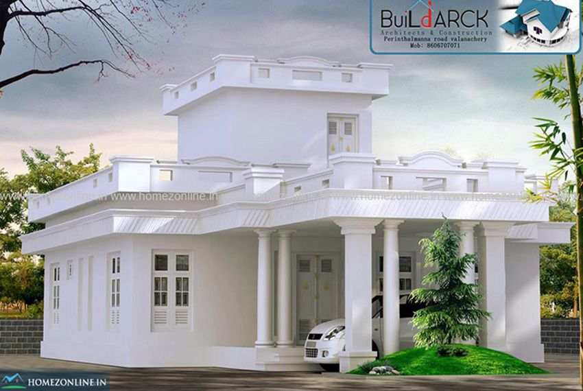 White Colour House A Inspirational House In 2020 White Exterior Houses Kerala House Design House