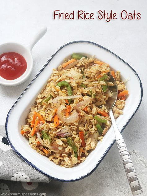 Fried rice style oats is part of Oats recipes breakfast - Fried rice style oats recipe