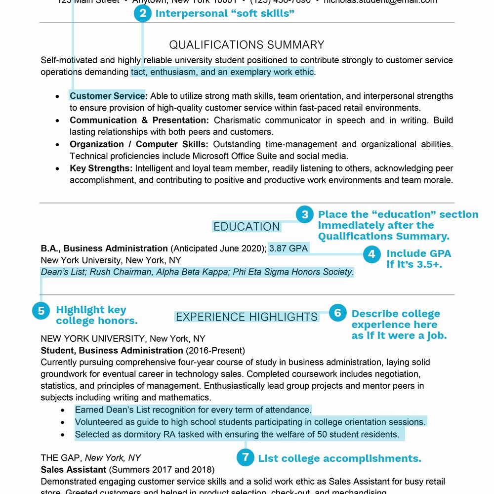 Sample Resume College Student Awesome Student Resume