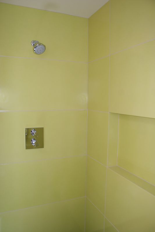BRIGHT TILE_fireclay tile-Claymonde Ceramic Tile Sheets Bathroom Shower Installation Detail