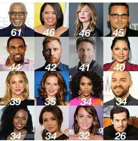 Greys Anatomy Cast Ages Greys Anatomy Pinterest Anatomy And