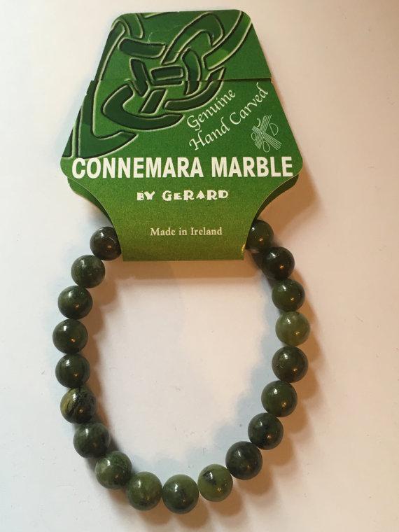 8mm Connemara Marble Celtic Knot Stretch Bracelet