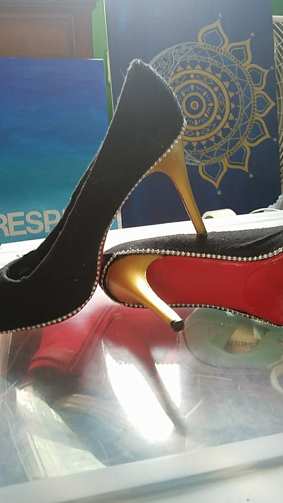My take on a pair of louboutin shoes diy crafts pinterest