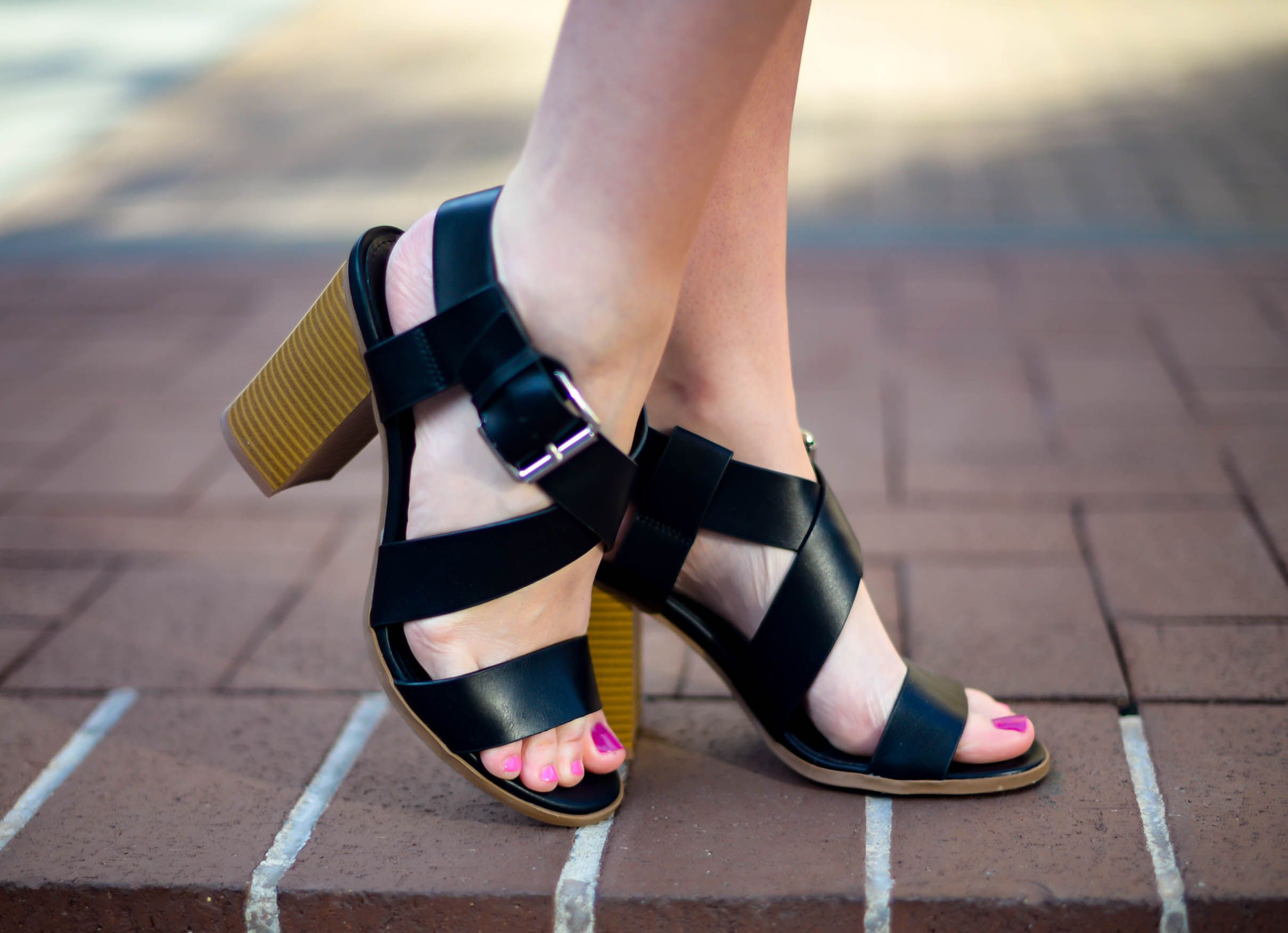 Black sandals at payless - Rock The Chunky Heel Trend In The Romeo Sandal From Csiriano