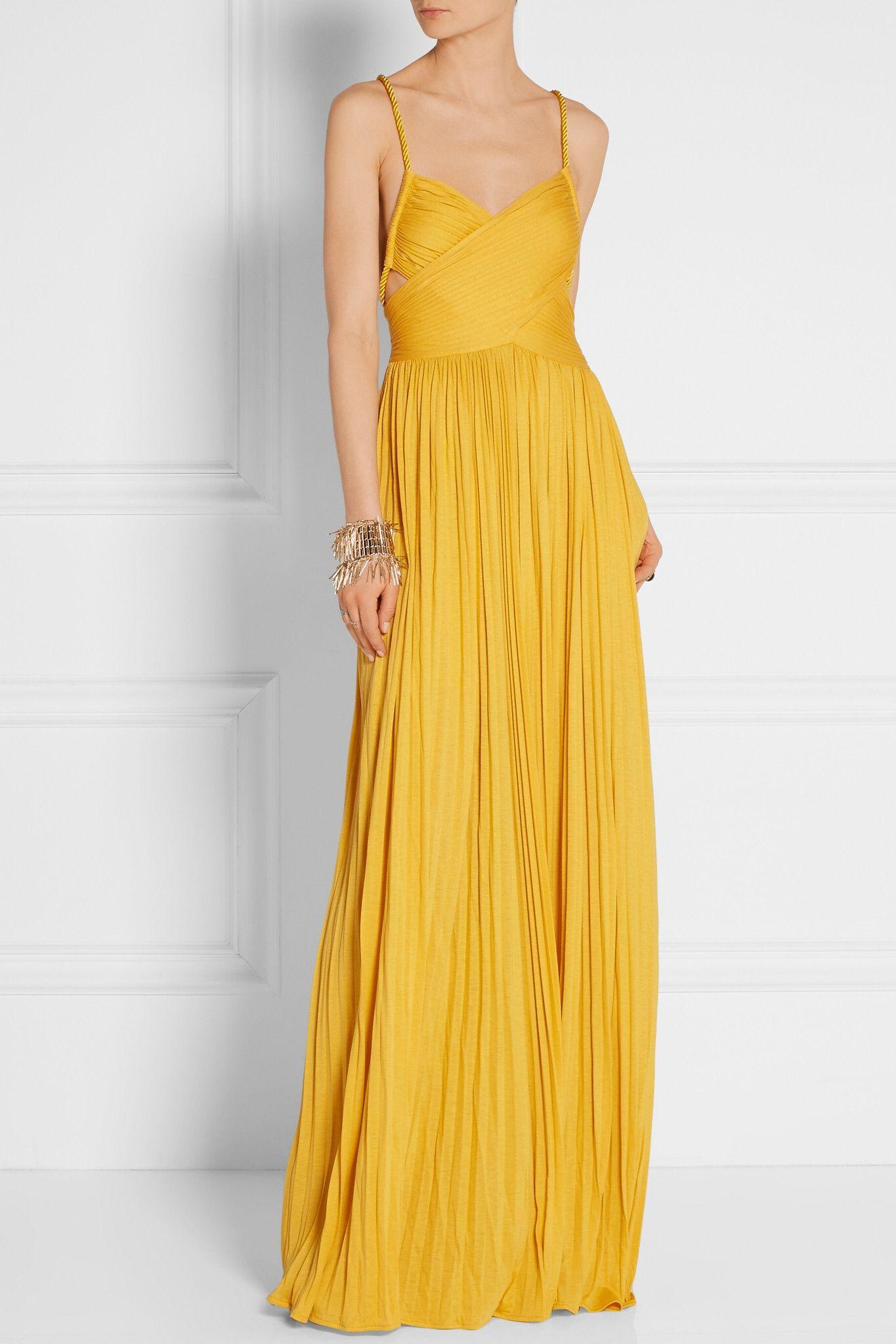 Mustard Kim Plisse Silk Blend Jersey Maxi Dress Rachel Zoe Yellow Maxi Dress Maxi Dress Maxi Jersey Dress [ 2048 x 1365 Pixel ]