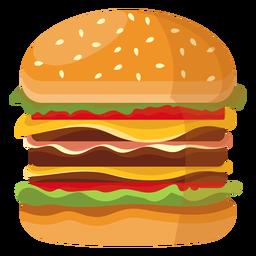 Triple Cheeseburger Icon Triple Cheeseburger Merchandise Design Icon