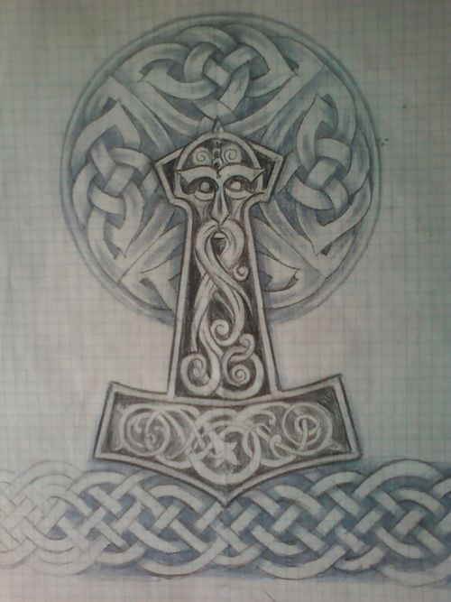 Thor Hammer Tattoo Designs Design Derived From Norse Mythology