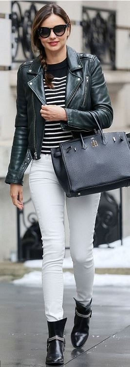 cbeb4b83726 Miranda Kerr  Sweater – T by Alexander Wang Shoes – Saint Laurent  Sunglasses- Celine Purse – Hermes