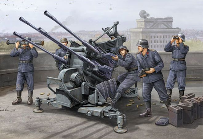 German WW2 Weapons | Trumpeter 1/35 German WW2 Flak 38 Anti ...