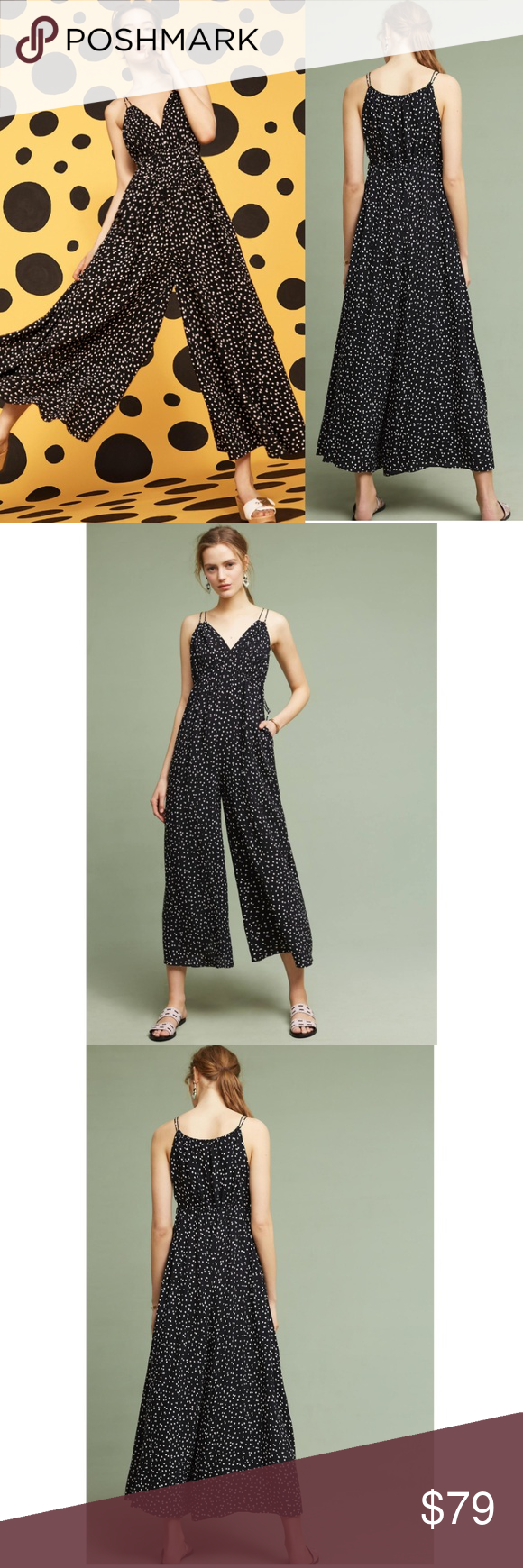 4f40272490 NWT ANTHROPOLOGIE Maeve Finley Polkadot Jumpsuit