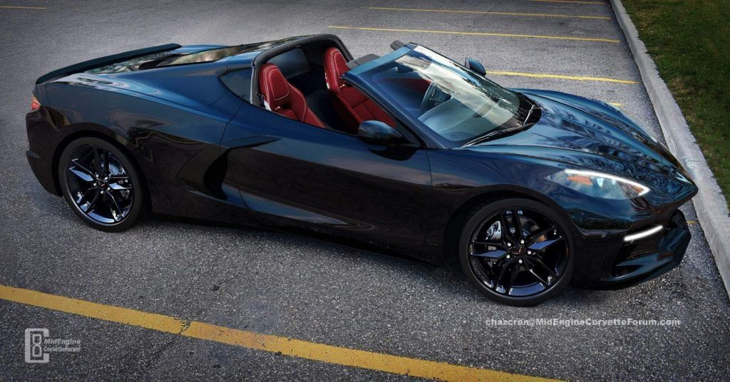 2020 Corvette C8 Envisioned With The Targa Top Down Carscoops Corvette Chevrolet Corvette Sports Car