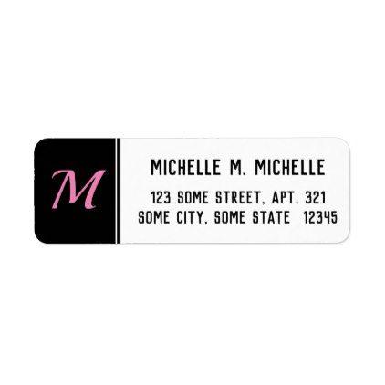 initial basic custom initial letter return address label