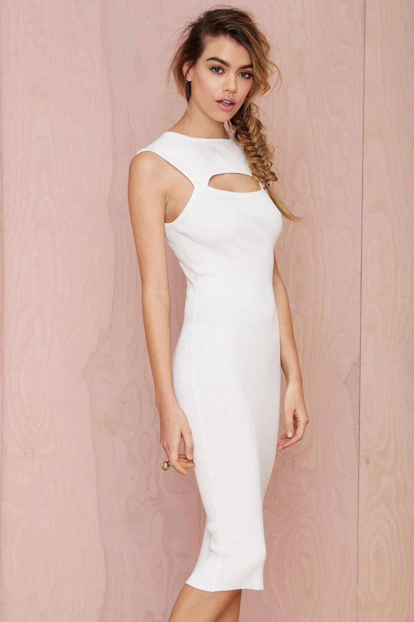 White Midi Dress | Vestidos a la rodilla | Pinterest | La rodilla y ...