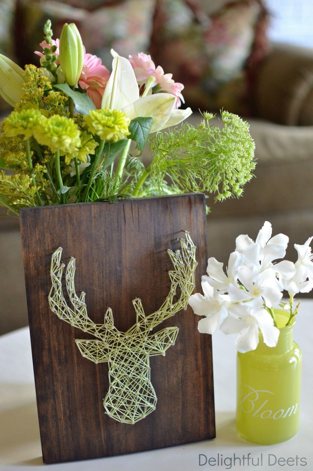 DIY String Art: Deer Head | window display ideas | Pinterest ...