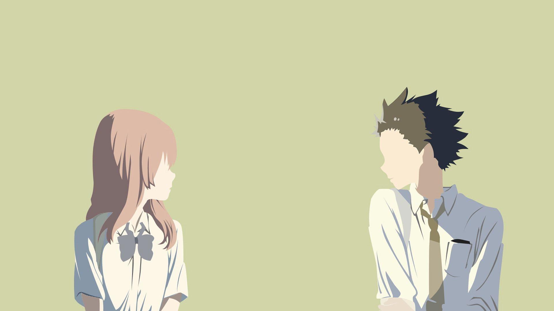 HD wallpaper: Anime, Koe No Katachi, Shouko Nishimiya, Shouya Ishida