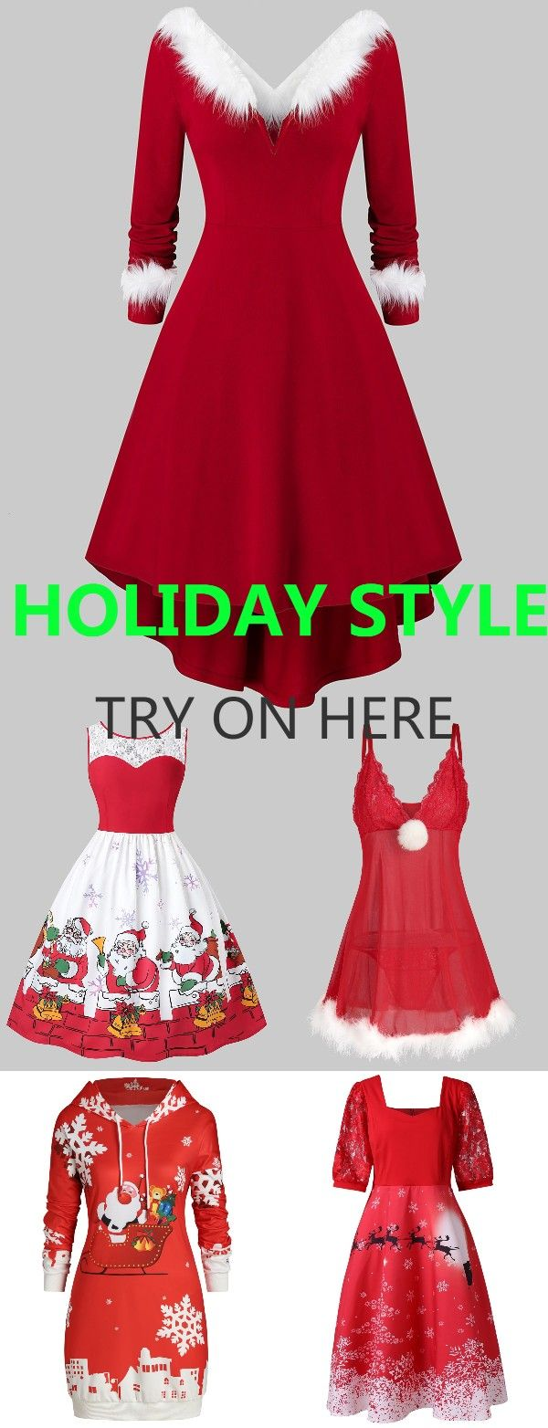 Free shipping over $45, up to 75% off, Rosegal Plus size vintage dresses ideas Christmas party dresses   #rosegal #womenfashion #Christmasdress [Extra 20% OFF Code: RGFR20]