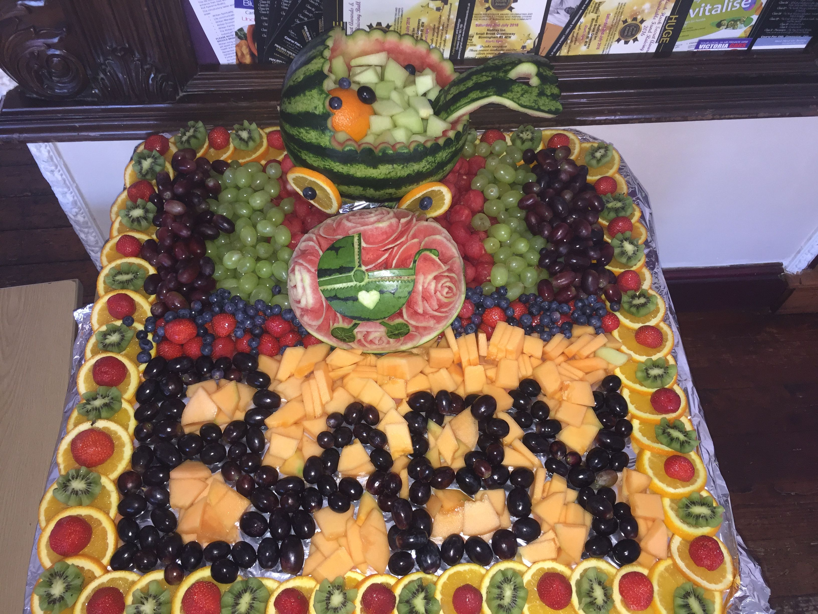 Baby Shower Fruit Display By Esther Masters Baby Shower Fruit