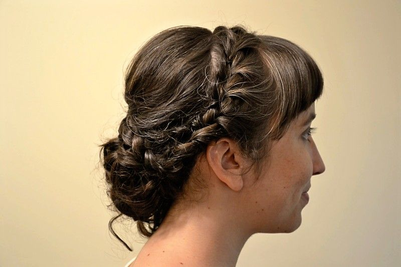 More of my hair trial hair! Love the braid and she worked so well making my bangs look dressier.