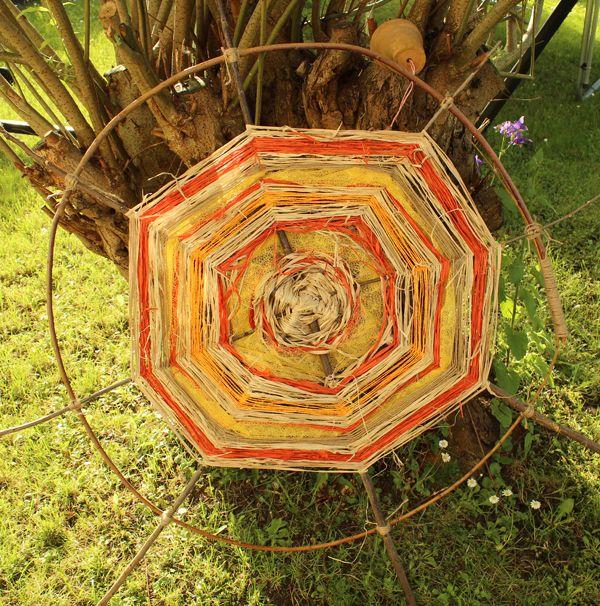 Einfache bastelanleitung f r ein sonnenrad originelle for Originelle gartendeko