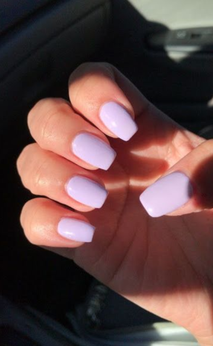 10 Popular Spring Nail Colors For 2020 An Unblurred Lady In 2020 Lavender Nails Best Acrylic Nails Purple Nails