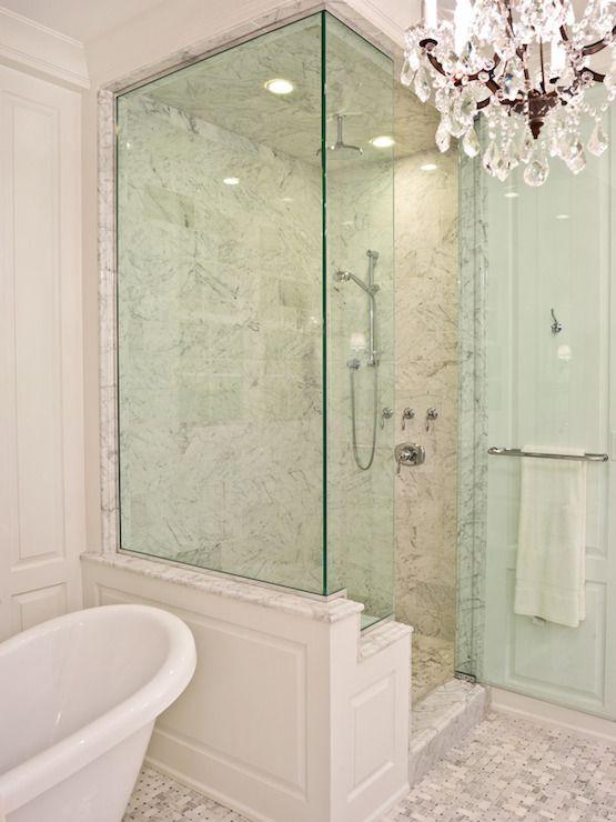 PLD Custom Homes - bathrooms - walk in shower, glass shower, glass ...