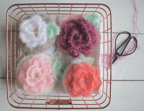 Peeling Rosen / Duschrosen / Bubbles | häkeln | Pinterest ...