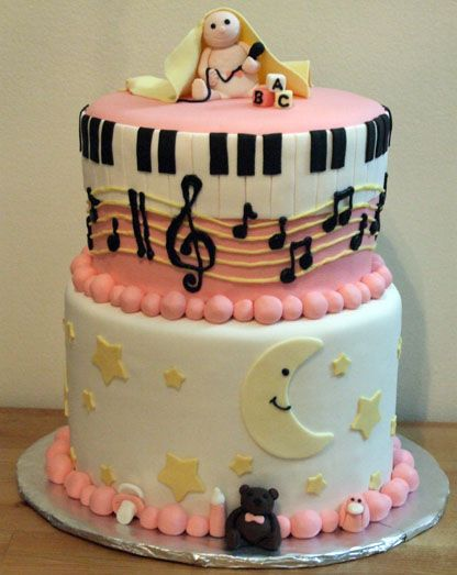 Great Baby Shower Cakes With Music NoTe Theme