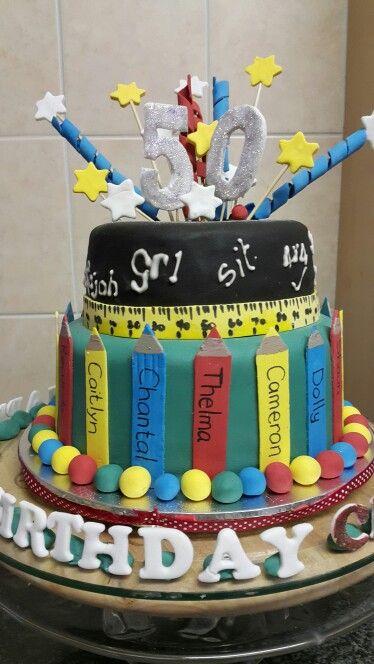 Happy 50th Birthday cake for Cheryl Made a light fruit cake Easy