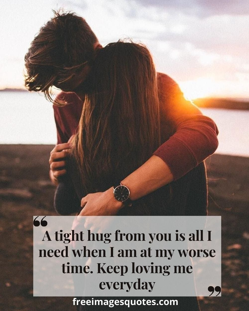 A tight hug from you is all I in 6  Hug quotes, Love