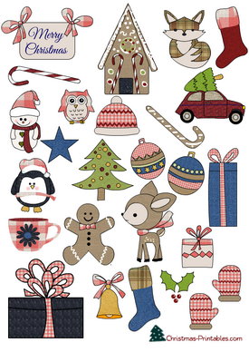 image about Printable Christmas Stickers referred to as 27 No cost Printable Xmas Stickers STICKERS! No cost