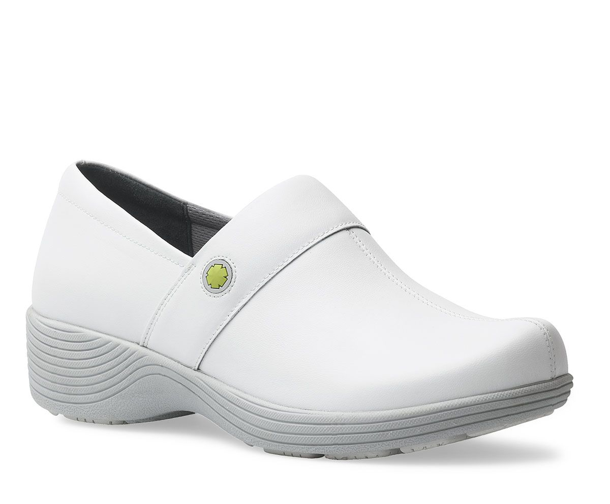 82c75d523410e8 Work Wonders by Dansko. Shown Camellia White Leather from the Fairfax  collection.  nurse