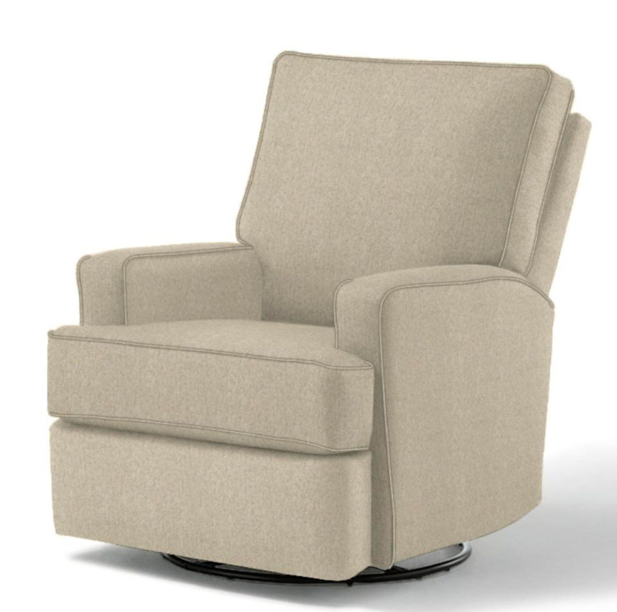 Best Chairs Kersey Swivel Glider Recliner Stone Home Decor