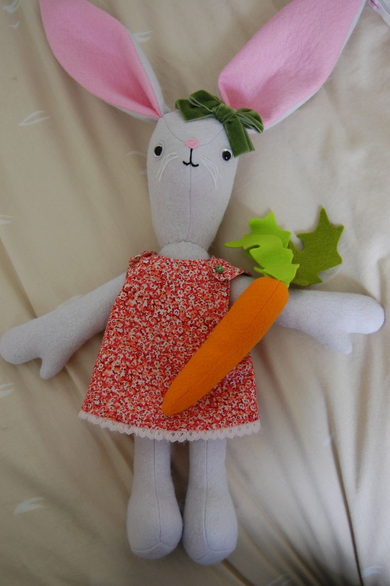 Abigail Glassenberg's latest creation.  She is a genius when it comes to stuffed toy construction.